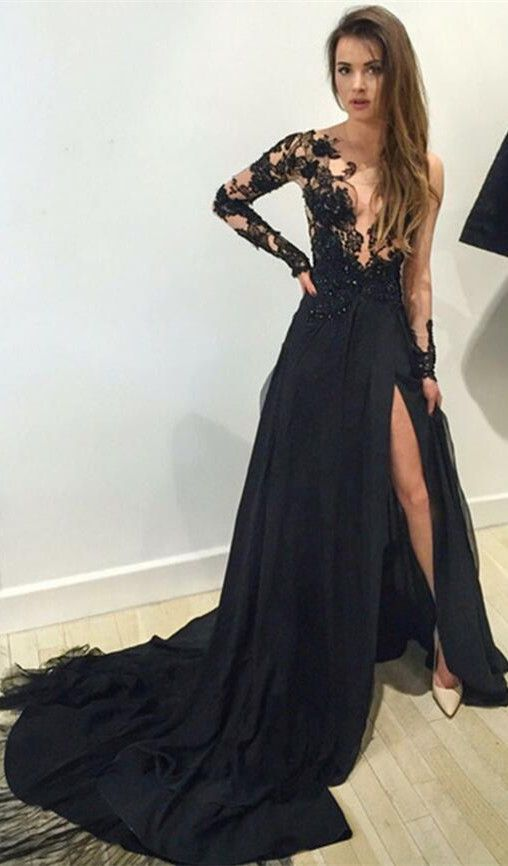 Collection Black Long Dresses Pictures - Reikian