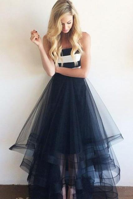 Sexy Prom Dresses,New Arrival Tulle Prom Dresses, Floor-Length A-Line Prom Dresses, The Charming Evening Dresses